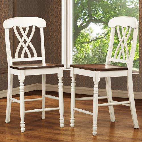 24-Inch Counter Height Chairs, Set of Two